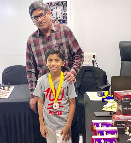 Aditya Patil at School Chess Championship