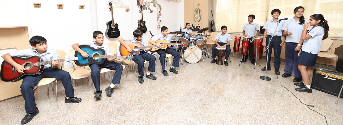 Students are also offered lessons in Indian Music, Western Music